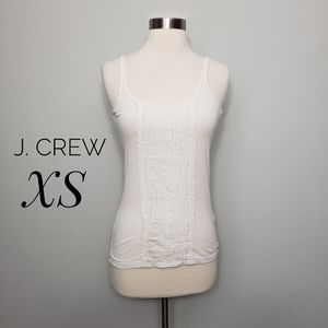 J. CREW white perfect fit ribboned camisole top